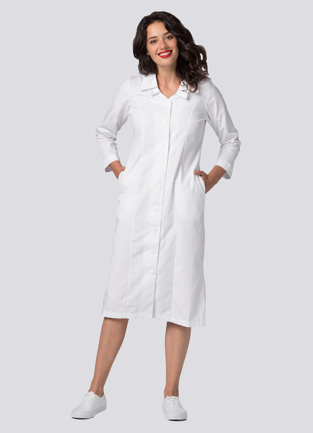 Double Embroidered Collar Dress