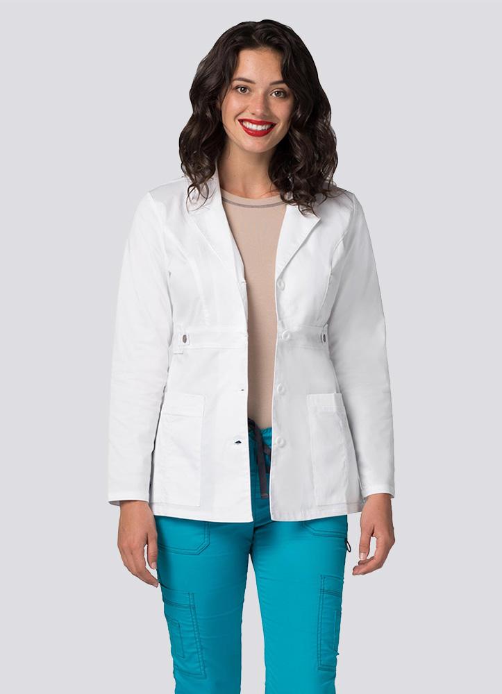 "Women's 28"" Tab-Waist Lab Coat"