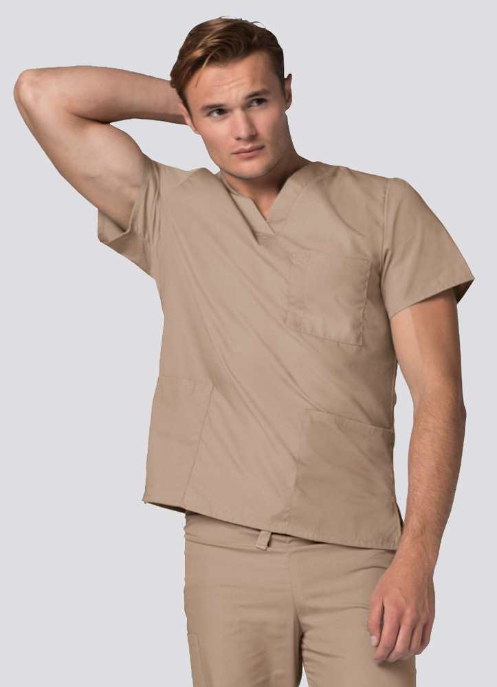 Unisex V-Neck Tunic 3 Pocket