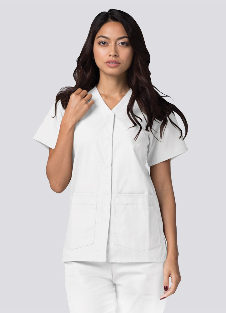 Double Pocket Snap Front Top