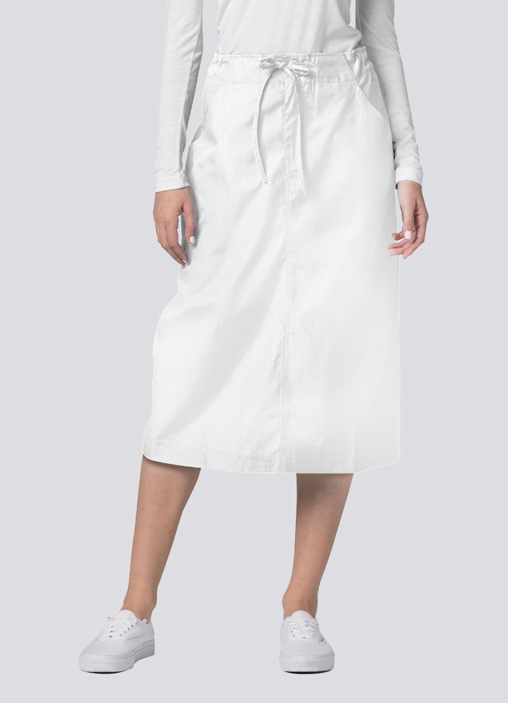 Mid-Calf Length Drawstring Skirt