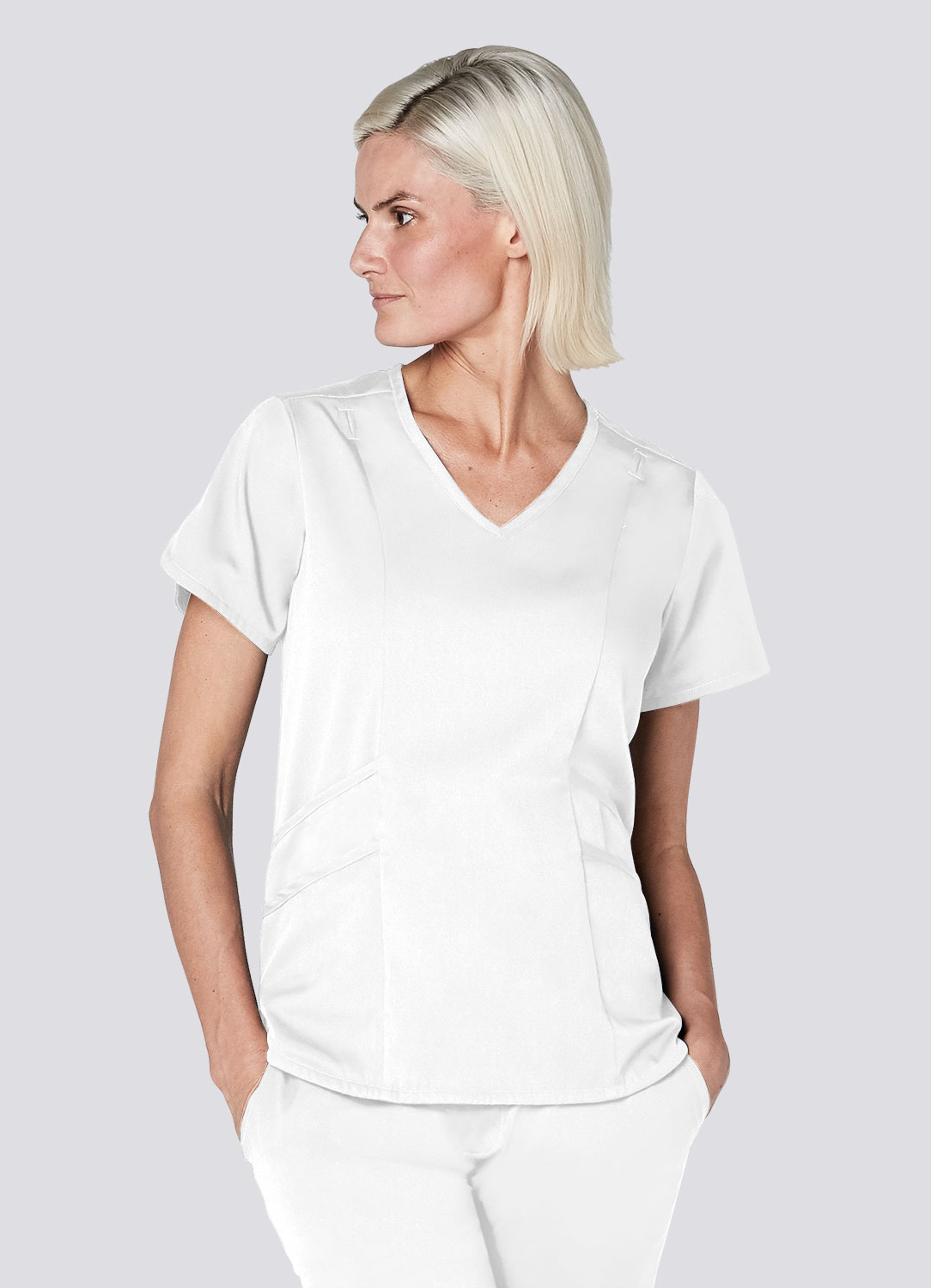Tailored V-Neck Top