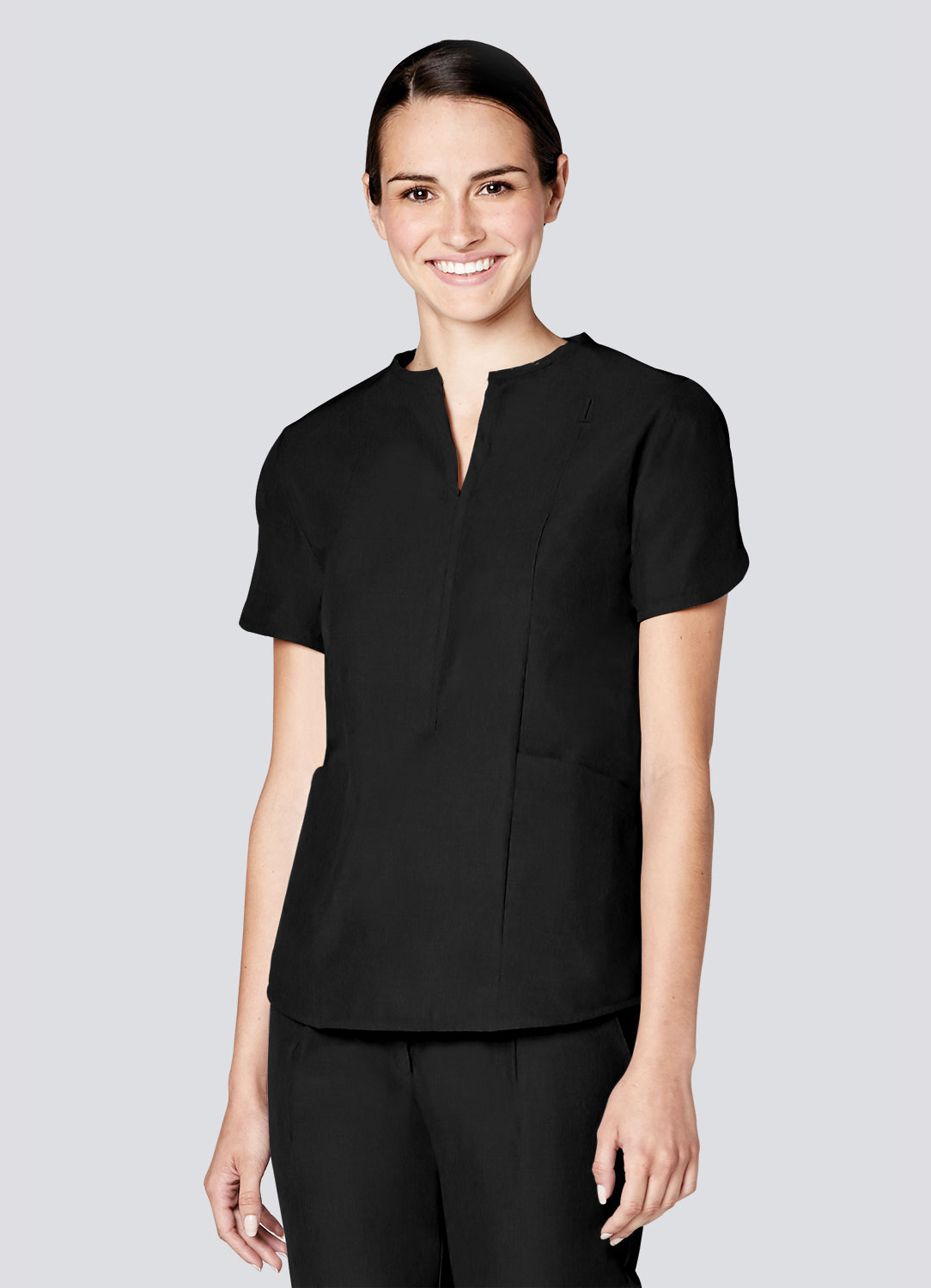 Tailored Notch Neck Top