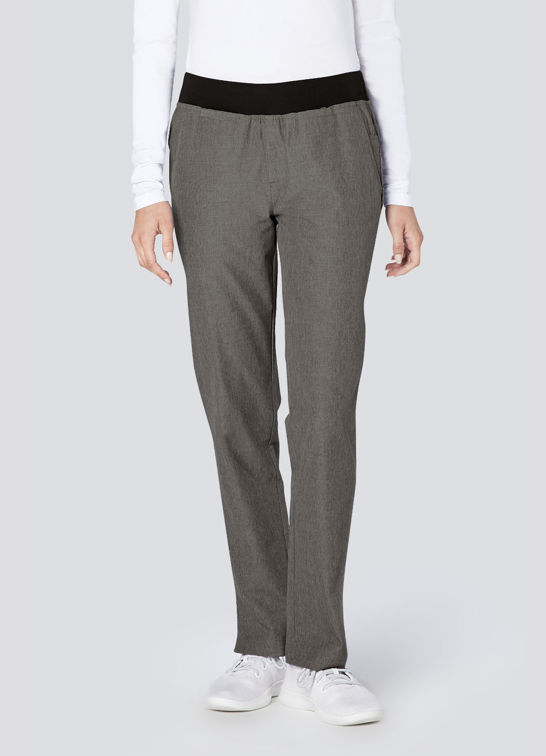 Polished Melange Tailored Skinny Pant