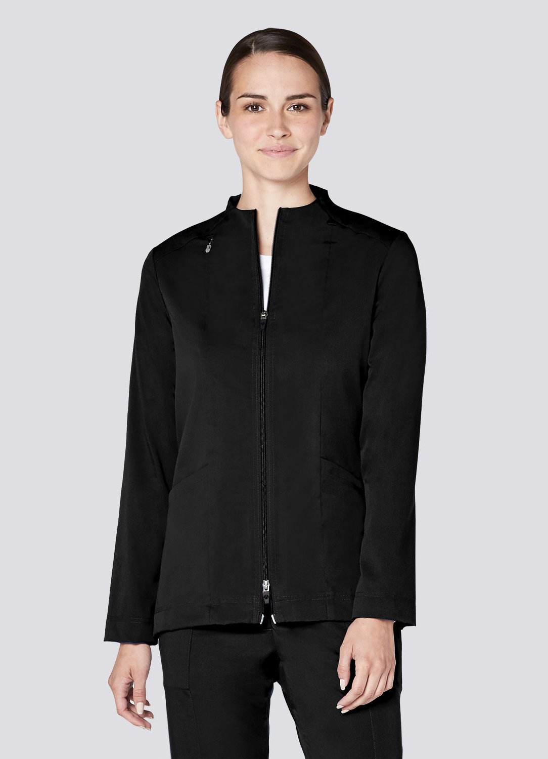 Tailored Funnel Neck Jacket